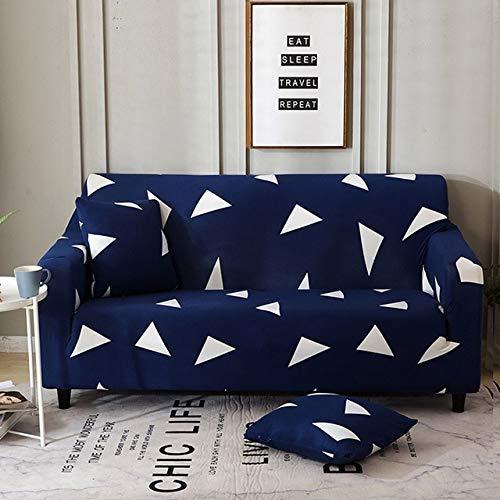 WXQY Fundas geométricas elásticas Fundas de sofá elásticas protección para Mascotas Funda de sofá Esquina en Forma de L Funda de sofá Antideslizante A9 2 plazas