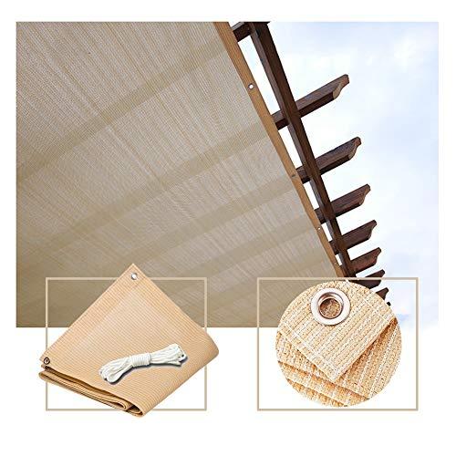 PENGFEI Malla Sombra, Rectángulo Beige Inicio Pérgola Sombra Cubierta Toldo De Protección Solar for Patio, 90% Resistente A Los Rayos UV (Color : Beige, Size : 3.8x11m)