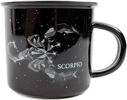 Mugs 16oz Bistro Mug Coffee Glass Tea Cup Zodiac Horoscope Birth Sign Scorpio diy mug