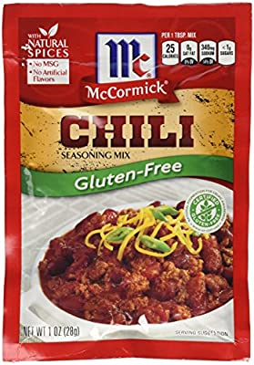 McCormick Gluten-Free Chili Seasoning Mix, 1 oz (Pack of 6)