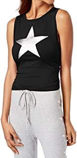 Material Girl Juniors' Ruched Metallic-Graphic Top