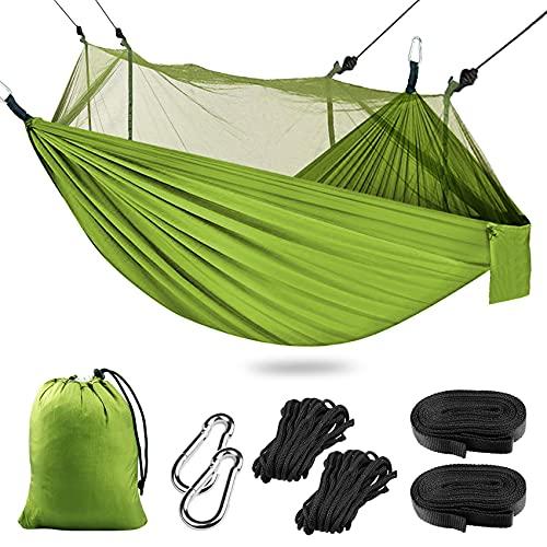 Hamacas Camping Colgantes Portátil, Hamaca Mosquitera Ultraligera y Transpirable para Viaje y...