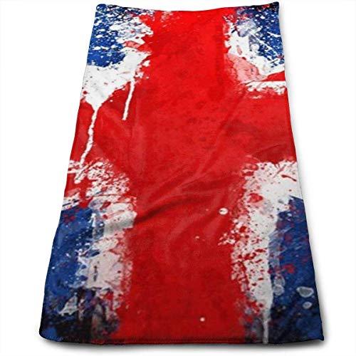 Bandera de Inglaterra Toalla de Mano Abstracta Toallas de Lujo Ultra Suaves para baño, Hotel, Gimnasio y SPA 30x70cm