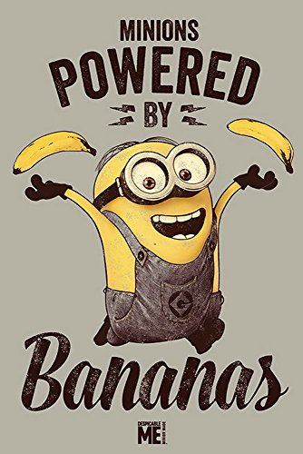 empireposter Despicable Me - Powered by Bananas - einfach unverbesserlich Poster - Größe 61x91,5 cm