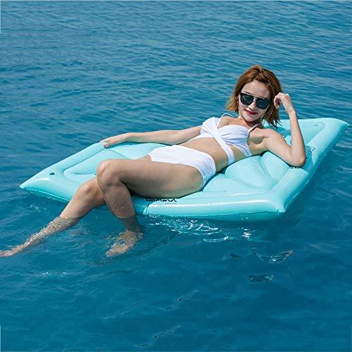 QIXIAOCYB Anillo de natación Airbeds Diamante Inflable Drenaje Flotante en hilera Flotante Inflable Cama Flotante Cojín reclinable Inflable Cama Flotante Inflable