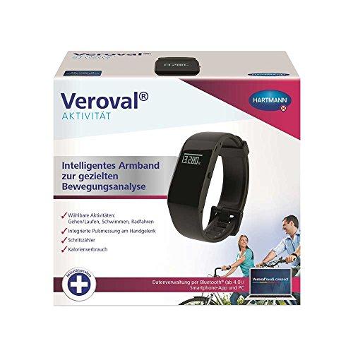 Hartmann Veroval - Pulsera de actividad física con Bluetooth y adaptador USB