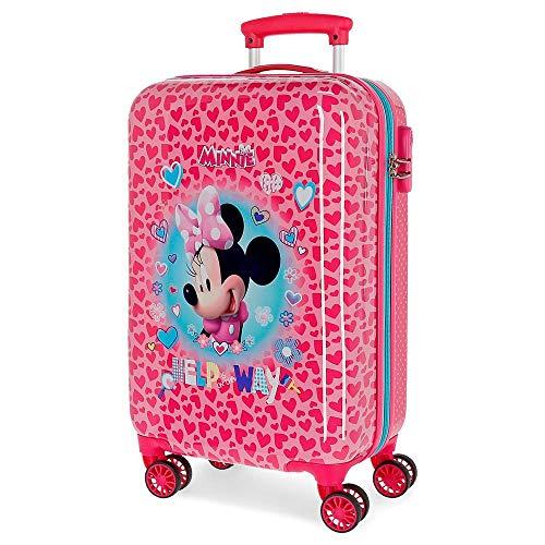 Disney Minnie Help on The Day Maleta de Cabina Rosa 37x55x20 cms Rígida ABS Cierre combinación 32L 2,5Kgs 4 Ruedas Dobles Equipaje de Mano