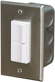 Infratech 14 4300 Accessory - Single Duplex Switch Wall Plate and Gang Box 20 Amp Per Pole, Patio Heater Switch and Wall Plate