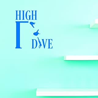 "Design with Vinyl US V JER 2589 1 Top Selling Decals High Dive Wall Art Size: 12 Inches X 18 Inches Color: Multi, 12"" x 18"""