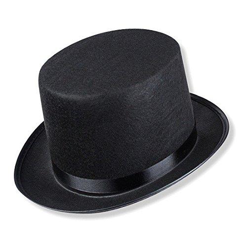 Schramm® hoge hoed met zwart satijnen lint voor volwassenen Chapeau hoge hoed