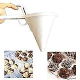 Inception Pro Infinite Imbuto dosatore per Pasticceria - Dispenser - colino - pastella - distributore Creme - cioccolatini - Pancake - Profondo 15 cm - Bianco - Idea Regalo Originale