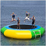 Inflatable Water Trampoline, Mosunx Splash Padded Water Bouncer Inflatable...