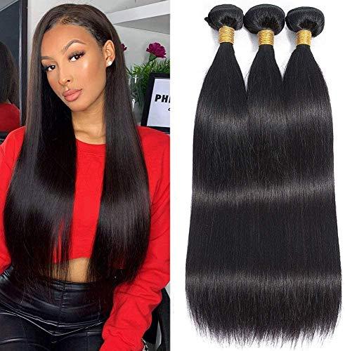 Musi tissage bresilien boucle bresilien lisse tissage en lot 3 meche bresilienne straight Hair grade 8A humain cheveux naturel 300g 20 22 24