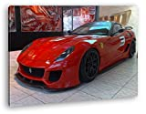 deyoli Roter Ferrari in Einer Ausstellung Effekt: Zeichnung