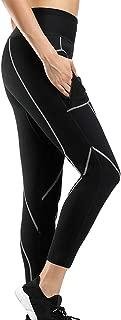 JOYMODE Women's Neoprene Leggings Slimming Pants Weight Loss Hot Sweat Tights Workout Capris