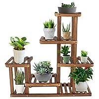 supporto in legno per fiori, scaffale per fiori, scaffale decorativo per vasi per piante per uso interno ed esterno, 72 x 72 x 20 cm