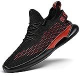 Aerlan Gym Shoes Lightweight Shoes,Zapatos Casuales Zapatos de Hombre Transpirables y cómodos, Zapatos de Senderismo para Deportes al Aire Libre-Negro Red_41,Botas de montaña Deportivas