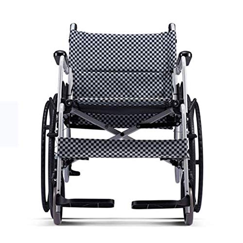 FEE-ZC Carrello da Viaggio Manuale in Lega di Alluminio Ultraleggero Portatile Leggero Regolabile per disabili