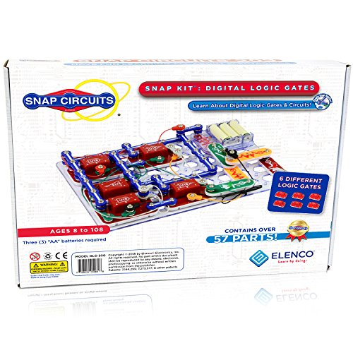 Snap Circuits Digital Logic Gates 200 Exploration Kit | 4Color Downloadable Project Manual | 42 Snap Modules | 11 Logic Gates | NOT Gate~AND Gate~OR Gate~NAND Gate~NOR Gate~XOR Gate | STEM Curriculum