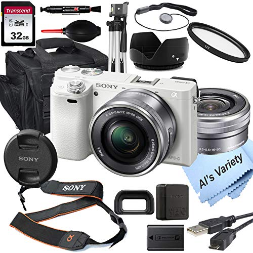 Sony Alpha a6000 (White) Mirrorless Digital Camera...