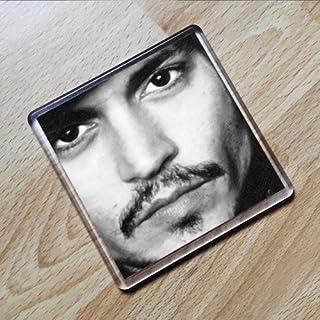 JOHNNY DEPP - Original Art Coaster #js009