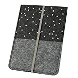Hülle/Schutzhülle 'Punkte' für Kindle, dunkelgrau (Farbe/Motiv wählbar) | eReader-Hülle für 6 Zoll (15cm) eBooks aus Filz