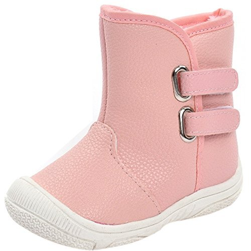 Infant Baby Boy Girl Snow Boots Rubber Sole Anti-Slip Warm Winter Prewalker Waterproof Toddler Shoes