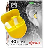PQ Small Ear Plugs for Sleeping - 40 Earplugs for Sleep! Sound Blocking for Small Ear Canals, Premium Quality Soft Earplugs for Sleep, Noise Cancelling 32 dB - for Women and Men (20 Pairs)