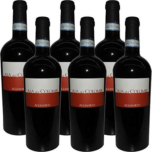 Aglianico DOC Sannio | Aia Dei Colombi | Vino Rosso Campania | Confezione 6 Bottiglie da 75Cl | Idea Regalo