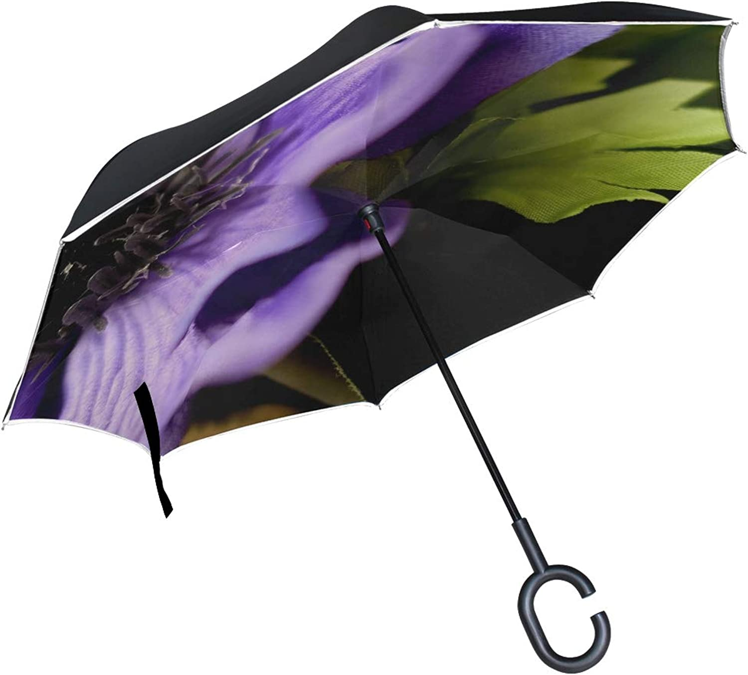 Double Layer Ingreened Art Flower Flower Nature Plant Garden Floral 3298513 Umbrellas Reverse Folding Umbrella Windproof Uv Predection Big Straight Umbrella for Car Rain Outdoor with CShaped Handle