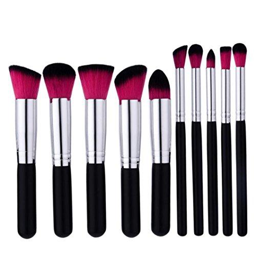 Btruely Makeup Pinsel 10PCS Professionelle Kosmetik Pinsel Synthetisches Haar Pinselset Anzüge für...