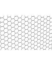 GAH-Alberts 614140 zeshoekig gaas   verschillende lengtes en hoogtes - naar keuze in verschillende kleuren   verzinkt   mazen 25 x 25 mm   hoogte 50 cm   lengte 10 m