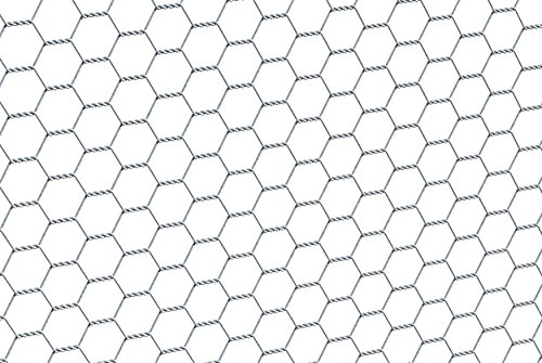 GAH-Alberts 614140 Sechseckgeflecht | verschiedene Längen und Höhen - wahlweise in verschiedenen Farben | verzinkt | Maschen 25 x 25 mm | Höhe 50 cm | Länge 10 m