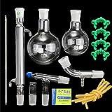 Attrezzatura il vetro chimico da laboratorio, distillazione industriale dell'acqua Purificazione dell'olio essenziale Set di apparecchi sperimentali Forniture per l'insegnamento universitario