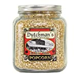 Dutchman's Hulless Popcorn Kernels in Half Gallon Decorative Jar (4 lbs. kernels)