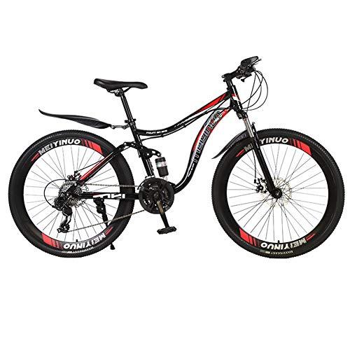 Adulte Vélo De Route Vélo De Course Tout-Terrain,RNNTK Double Frein à Disque Flexible Agile.Mountain Bicycle Hommes Et Femmes,Une Variété De Couleurs Voiture en Acier De Carbone P -21 Vitesse -26 in