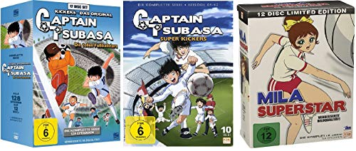 Captain Tsubasa: Die tollen Fußballstars - Die komplette Serie + Captain Tsubasa - Super Kickers - Gesamtedition + Mila Superstar - Die komplette Serie [DVD Box Set]