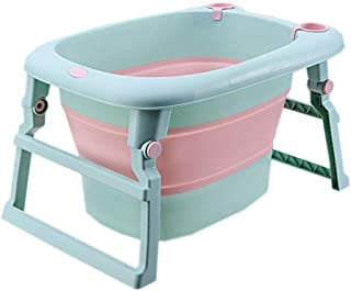 BEIHUAN Baby Portable Collapsible Infant to Toddler Space Saver Foldable tub - Anti Slip Skid Proof - for Bathing Newborns
