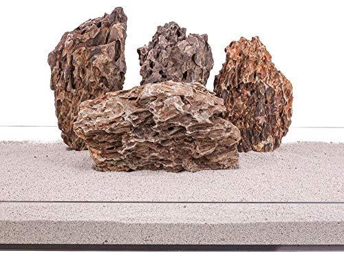 Aquarium Natursteine Drachenstein Deko Felsen braun 1 Stück Gr.XXL 4-6 Kg Nr.65 Steine Deko Pagode Dekoration Aquascaping