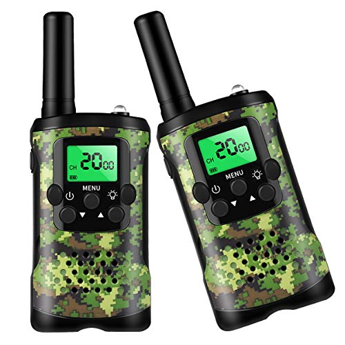 Walkie Talkies for Kids, Toys for 3 4 5 6-12 Year Old Boys Girls 3 KMs 2 Way Radio 22 Channels with Backlit LCD Flashlight, Kids Walkie Talkies Best Gifts for Children Outdoor Adventure Camping Game