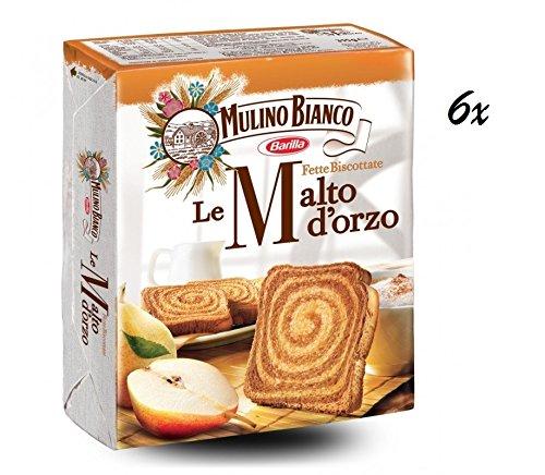 6x Mulino Bianco Fette biscottate Gerstenmalz 315g Gerste Zwieback kekse brot