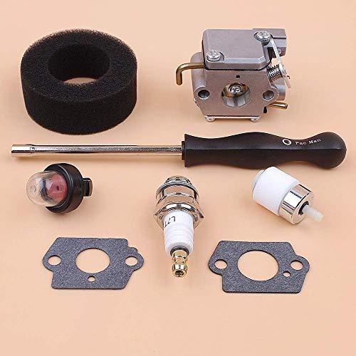 FEIFUSHIDIAN Ersatz-Luftfilter-Reparatur-Set für Bolen BL150 BL250 BL410 BL100 Troy-Bilt MTD 791-182062 753-05133 Walbro WT-827 WT-827-1 Druck