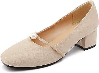 BalaMasa Womens APL12015 Pu Block Heels
