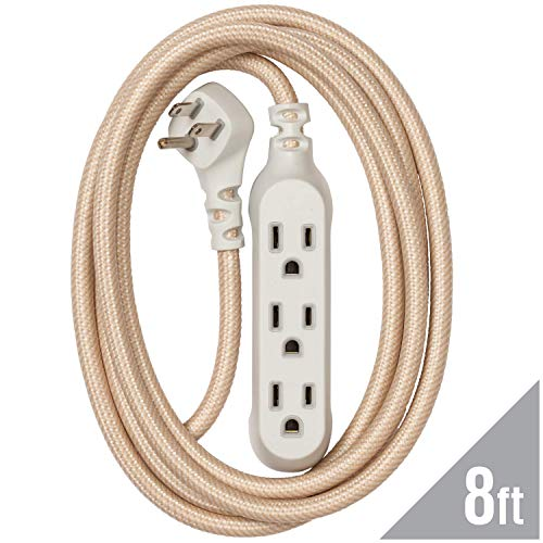 360 Electrical 360428 Habitat Modern Braided Extension Cord,...