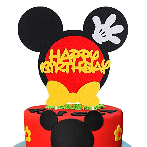 PANTIDE Mickey Inspired Birthday Cake Topper for Any Age, Party Cake Decoration Supplies