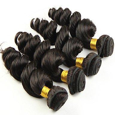 Gzhuang Extensions de cheveux humains ondulés - Texture brésilienne - 50 - 8-26 - 25,4 cm