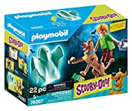 Legendary Fun for boys and girls: PLAYMOBIL SCOOBY-DOO! Scooby & Shaggy with Ghost as well as extensive accessories for detailed play Scooby-Doo with plate for standing on hind legs, Bluestone the Great-Ghost with robe made of photoluminescent plasti...