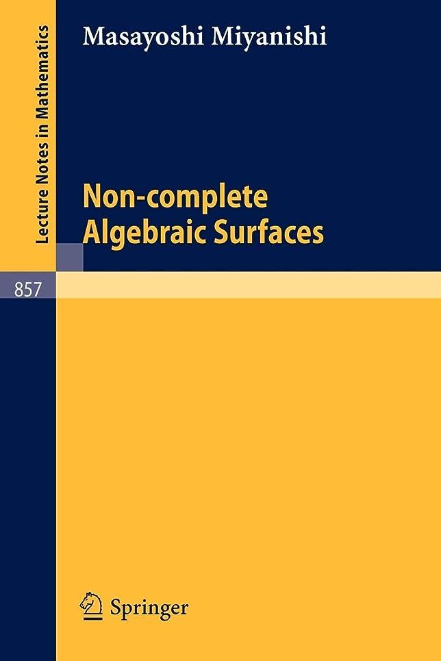 スペアライナー試すNon-complete Algebraic Surfaces (Lecture Notes in Mathematics)