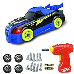 Cool looking Take-Apart Turbo Racing Car from Think Gizmos Awesome Take Apart Series is ideal for boys and girls who love cars and taking things apart.  An awesome take apart toy for toddler boys and girls. The 27 Piece Turbo Build Your Own Racing Ca...