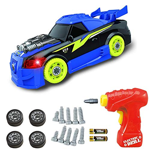 Think Gizmos Juguete Desmontable para los Niños - Construye tu Propio Kit de Juguete para niños y niñas de 3 4 5 6 7 8 + (Coche Roadster)